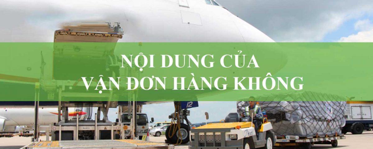 vận đơn hàng không