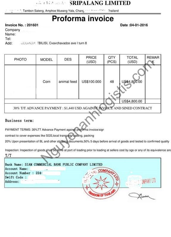invoid trong xuất nhập khẩu