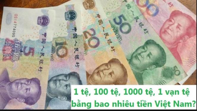 1 nhân dân tệ bằng bao nhiêu tiền Việt Nam
