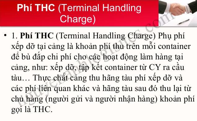 phụ phí handing charge