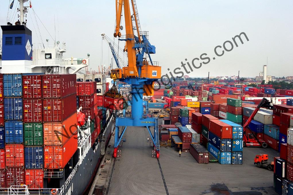 khối lượng hàng hóa vận chuyển bằng đường biển